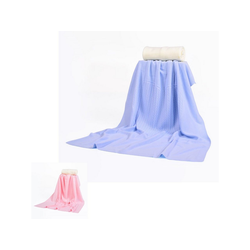 Babydecke Babydecke 340, Babyshoppen, Größe 80 x 100 cm weiche Baby-Feinstrickdecke mit Zopfmuster blau