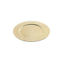 HTI-Living Dekoteller Dekoteller gold Lederoptik (1 Stück)