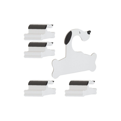 relaxdays Kleiderbügel 80 x Baby Kleiderbügel Hund