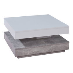 ebuy24 Couchtisch Erano Couchtisch drehbare Tischplatte und 1 Ablage
