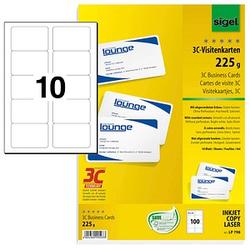 100 SIGEL Visitenkarten LP798 weiß