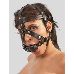 Zado Kopfharness mit Ballknebel (Leder)