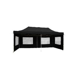 VCM Pavillon Falt Pavillon 3x6m schwarz,Faltpavillon +Seitenteile