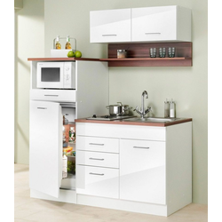 HELD MÖBEL Küchenzeile Monaco, Breite 160 cm weiß