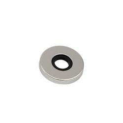 BigDean Türknauf Aluminium Rosette Zimmertürknopf Knopfdrücker, 1-tlg.