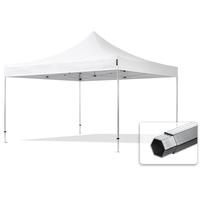 TOOLPORT Faltzelt Professional 4x4 m ohne Seitenteile Faltpavillon ALU Pavillon Partyzelt in weiß