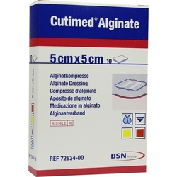 CUTIMED Alginate Alginatkompressen 5x5 cm 10 St