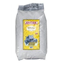 AMORA Katzenstreu White Compact Aloe Vera 15 Liter
