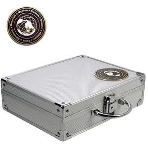 Safe 176 Münzkoffer Smart Universal komplett mit 6 Münztableaus Mixed für über 200 Münzen bis  41 mm