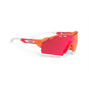 Rudy Project Cutline Brille Mandarin fade Coral/multilaser red 2021 Fahrradbrille