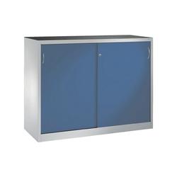 CP Schiebetürenschrank Mehrzweckschrank, komplett montiert blau 160 cm x 120 cm x 40 cm