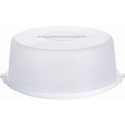 EMSA BASIC Tortenbutler, Spülmaschinenfest, Farbe: Weiß Transluzent