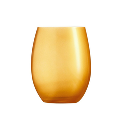 Chef & Sommelier Tumbler-Glas Primarific Gold, Krysta Kristallglas, Trinkglas Wasserglas Saftglas 350ml Krysta Kristallglas gold 6 Stück