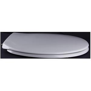 Grünblatt WC Sitz Klassik Design Toilettendeckel oval Klodeckel mit Quick-Release-Funktion und Geräuschlose Absenkautomatik, Hochwertige Antibakterielle Duroplast (Manhattan Grau)