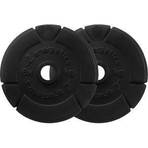 Energetics Hantelscheibe Guss (Inhalt: 2x 0,5 kg, 050 schwarz)