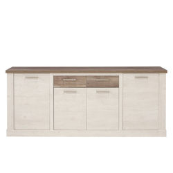 Forte Sideboard Duro in Pinie-Optik weiß
