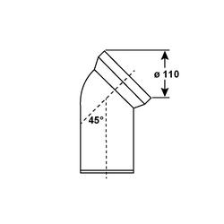 CORNAT WC-Ablaufbogen, 45°, 45°