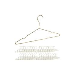 relaxdays Kleiderbügel 40 x Drahtbügel gold
