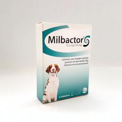 Milbactor Entwurmungsmittel für Hunde  5 + kg 4 Tabletten