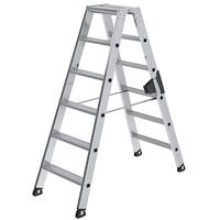 Günzburger Aluminium-Stufen-Stehleiter 2 x 6 Stufen (40212)