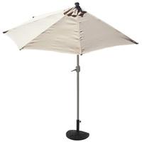 MCW Sonnenschirm Lorca-270, LxB: 260x135 cm, Optional mit Schirmständer, witterungsfest, Platzsparend zusammenfaltbar beige