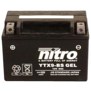 Batterie 12V 8AH YTX9-BS Gel Nitro 50812 390 Duke ABS KTM IS 13-16