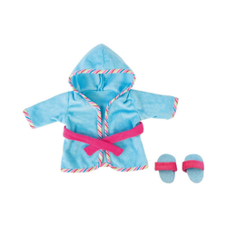 Bayer Puppenkleidung Puppenkleidung Bademantel blau 38 cm