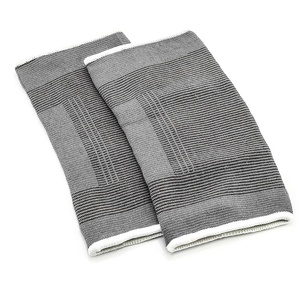 1x Paar Knie-Bandage Grau-Schwarz (7216)