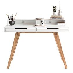 WOHNLING Skandi Schreibtisch weiß rechteckig
