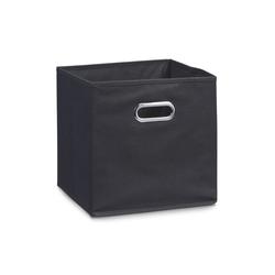 Zeller Aufbewahrungsbox in schwarz, 28 x 28 cm