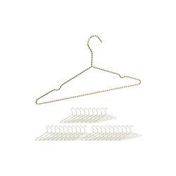 relaxdays Kleiderbügel 30 x Drahtbügel gold