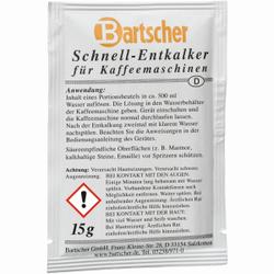 Bartscher Kaffeemaschinen-Entkalker, Schnell-Entkalker für Kaffeemaschinen, 1 Karton = 30 Beutel á 15 g