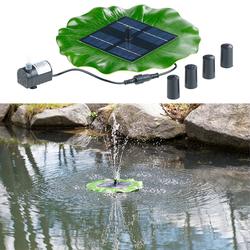 Schwimmender Solar-Teich-Springbrunnen mit Pumpe und 4 Düsen