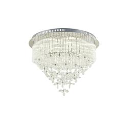 Basispreis* KHG LED-Kristalldeckenleuchte 10-flammig ¦ silber ¦ Maße (cm): H: 46 Ø: [60.0]