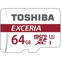 Toshiba microSDXC Exceria M302 EA 64GB Class 10 UHS-I U3 + SD-Adapter