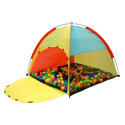 LittleTom Spielzelt Spielzelt Kinderzelt Bällebad Zelt für indoor/outd Kinderspielzelt inkl. Tasche