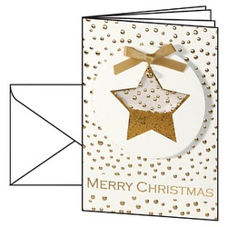 10 SIGEL Weihnachtskarten Confetti Star DIN A6