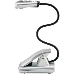 Leselampe mobil LED mit Batterien Silber