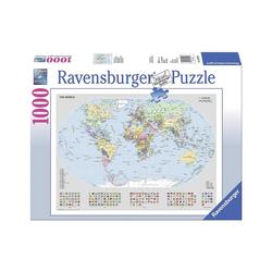 Ravensburger Puzzle Puzzle 1000 Teile, 70x50 cm, Basic- Politische, Puzzleteile