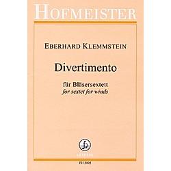 Divertimento  Bläsersextett (Flöte/Oboe/Klarinette/Bassklarinette/Horn/Fagott). Eberhard Klemmstein  - Buch