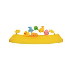 BIECO Bieco Badespielzeug Baby 7er Set inkl. Netz Wasserspielzeug Badewanne Badewannenspielzeug ab 1 Jahr Buntes Tiere Spielzeug Badewanne für Babys Badewannen Spielzeug Kinder Baby Bath Toys Badespielzeug