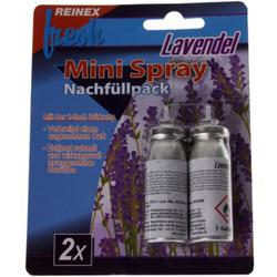 Reinex fresh Mini 2er Nachfüllpackung, 1 Packung = 2 x 10 ml Dosen, Duftrichtung: Lavendel