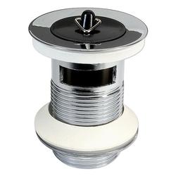Ablaufgarnitur mit Stopfen für Waschbecken - mit Überlauf - Länge 60 mm