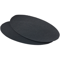 Schnellhaftende Bügelflicken aus Baumwolle, 2 Stück in schwarz