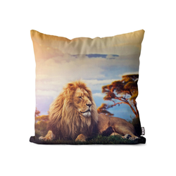 Kissenbezug, VOID (1 Stück), Löwe Afrika Safari Kissenbezug Löwe Katze Wildkatze Tiger Safari Afrika Reise 50 cm x 50 cm