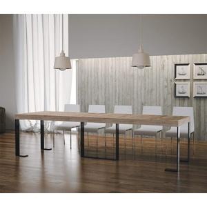 itamoby Futura Premium Konsolentisch ausziehbar, Platten von foliert, Eiche Natur/anthrazit, 9 x 4 x 77