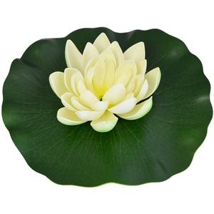 AMUR SOLAR SPRINGBRUNNEN SOLARTEICHPUMPEN Set WASSERSPIEL SOLAR TEICHDEKO SCHWIMMEND (Lotus-Blume – Wieß)