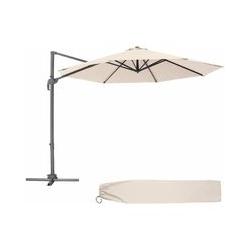 Sonnenschirm Ampelschirm Ø 300cm - Ampelschirm, Sonnenschutz, Gartenschirm - beige
