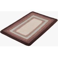Meusch MEUSCH, Badteppich Smart Höhe 20 mm, rutschhemmend beschichtet, fußbodenheizungsgeeignet rot Gemusterte Badematten