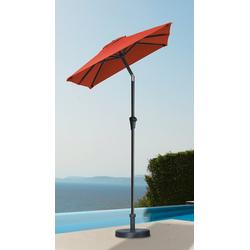 garten gut Sonnenschirm, LxB: 120x190 cm, abknickbar, ohne Schirmständer rot